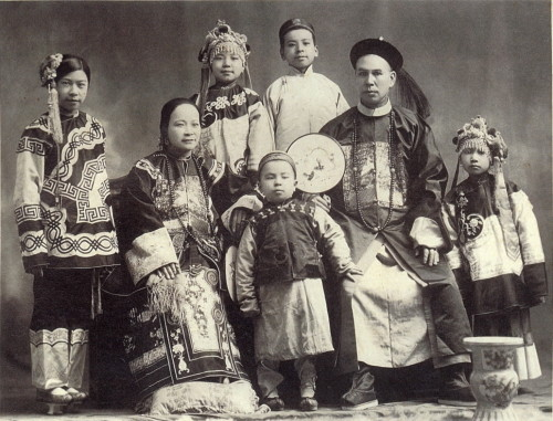 Chinese immigrants, 19th century photo, Portland